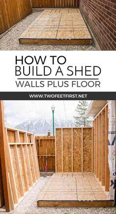 Do you need more storage at your house Maybe you need a shed Here is how to build shed walls plus the floor That way you can build your own shed