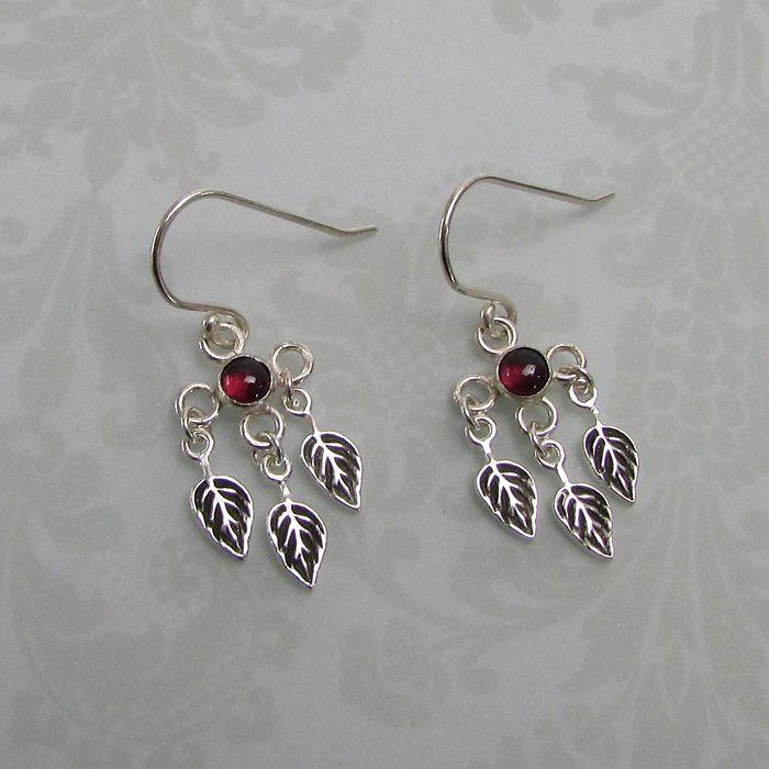 Garnet Leaf Chandelier Earrings | Chandelier earrings, Artisan ...