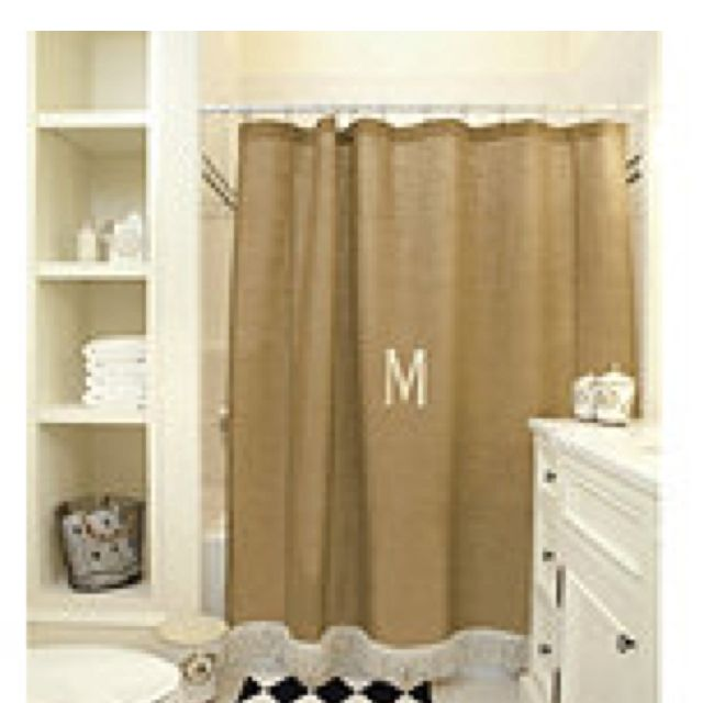 Burlap shower curtain from Ballard Designs | Burlap shower ...