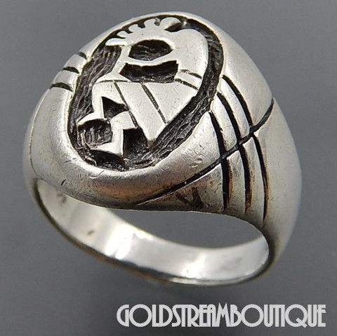 Dakota West Sterling Silver Kokopelli Southwestern Men's Ring - Size 1 – Gold Stream Boutique