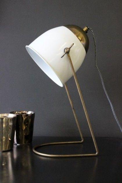 Little Brass U0026 Ivory Desk Lamp   Table Lamps   Lighting
