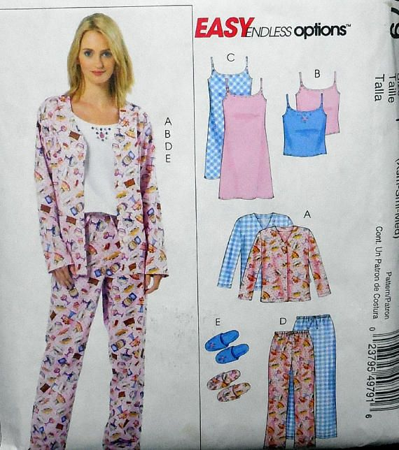 684a343a32 McCall s 4979 Easy Ladies  or Juniors Pajamas