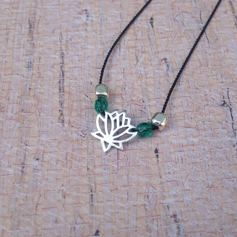 Silver Lotus Flower Necklace Lotus Flower Lotus And Flower Pendant
