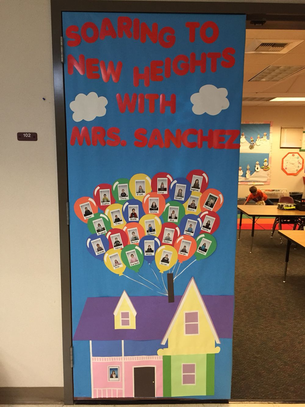 """Up"" themed door decoration for Teacher Appreciation Week ..."