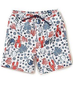 720bd96e47 Egg by Susan Lazar Baby/Little Boys 12 Months-4T Drake Lobster Print Swim  Trunks