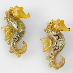 Seahorse Beads - Champagne (2 Beads)