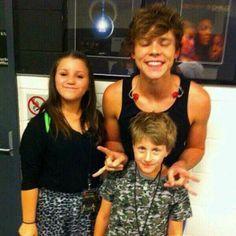Ash with Lauren and Harry