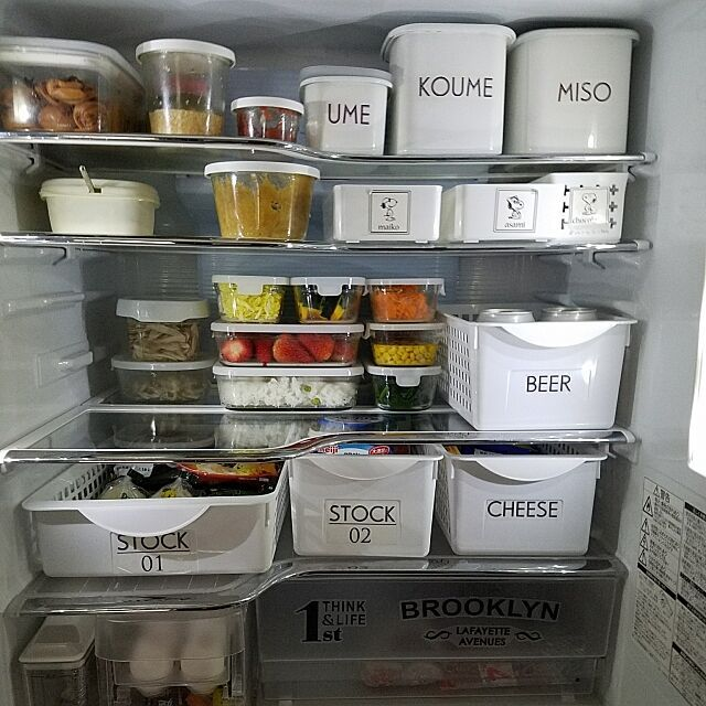 Solve if you have a plastic case! Clear refrigerator storage technique