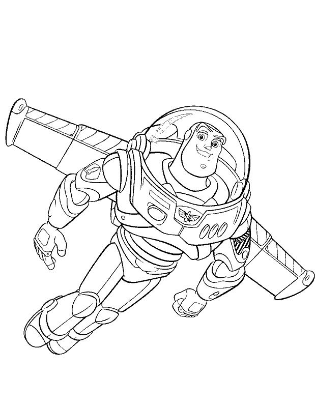 Toy Story Flying Buzz Coloring Pages Toy Story Cartoon Coloring