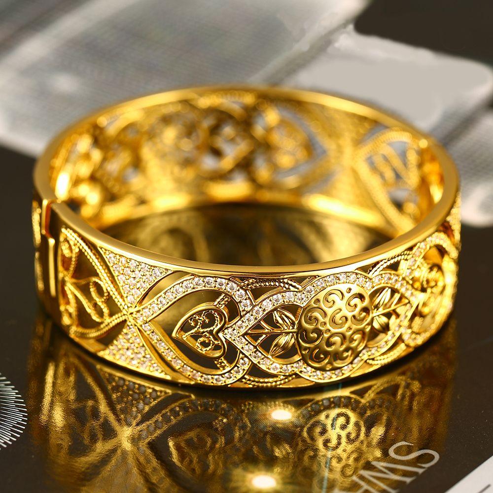 imitation jewelry design cubic zirconia diamond stone 24K dubai gold