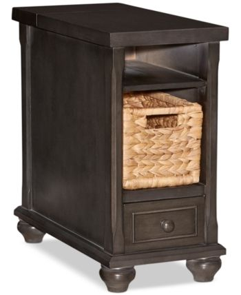 Hudson End Table Quick Ship Dark Grey In 2019 Wood End Tables End Tables Table