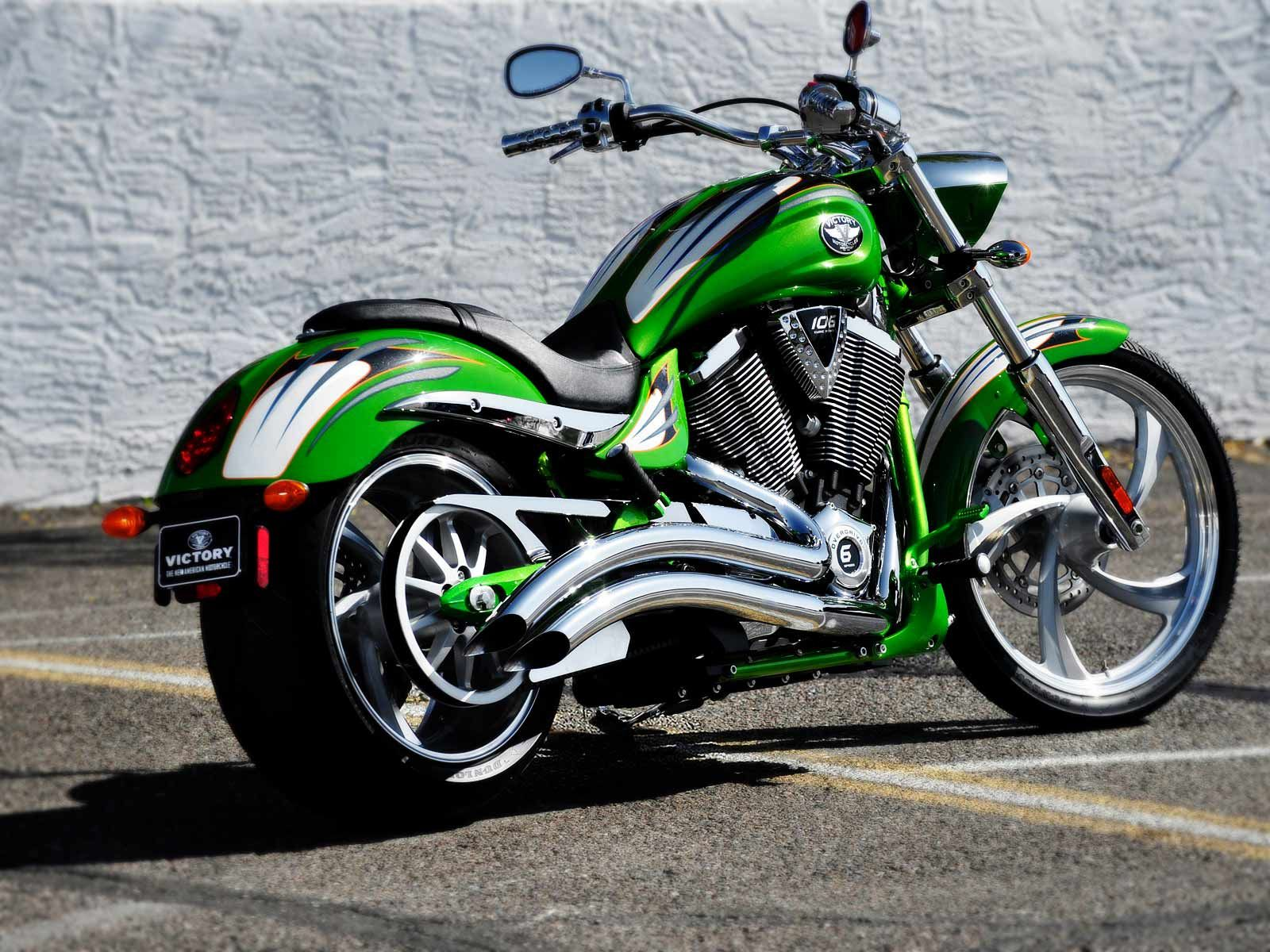 Victory Vegas Jackpot Green Costum Victory Motorcycles Victory
