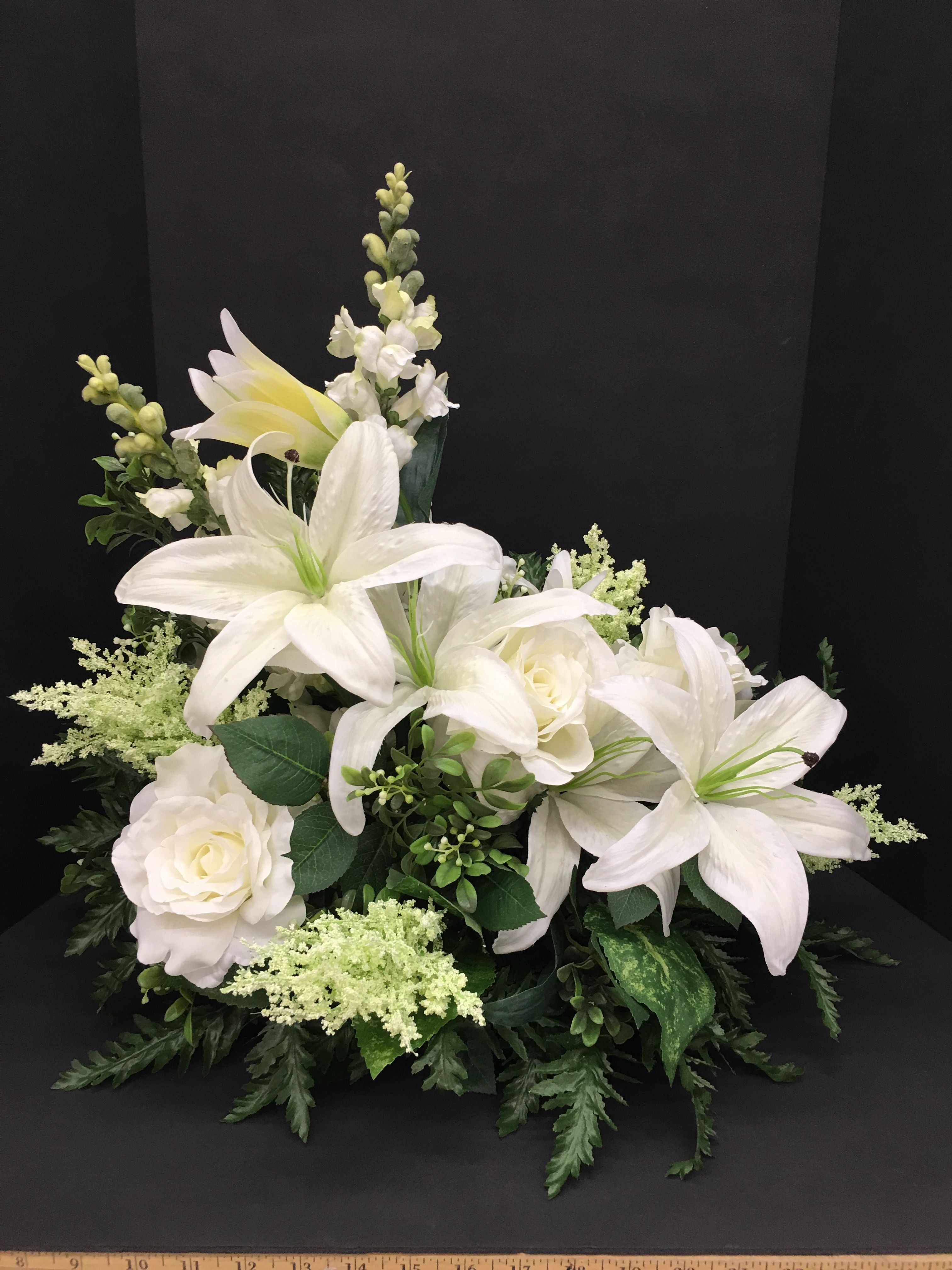 Small Easter Lily Arrangement Silk Flower Floral Arrangement