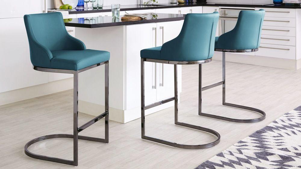 Form Black Chrome Bar Stool With Backrest   Bar Stools, Chrome Bar Stools, Kitchen Bar Stools