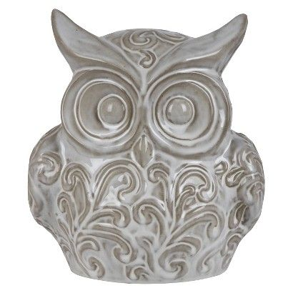 "10"" Ceramic Owl - White @ Target"