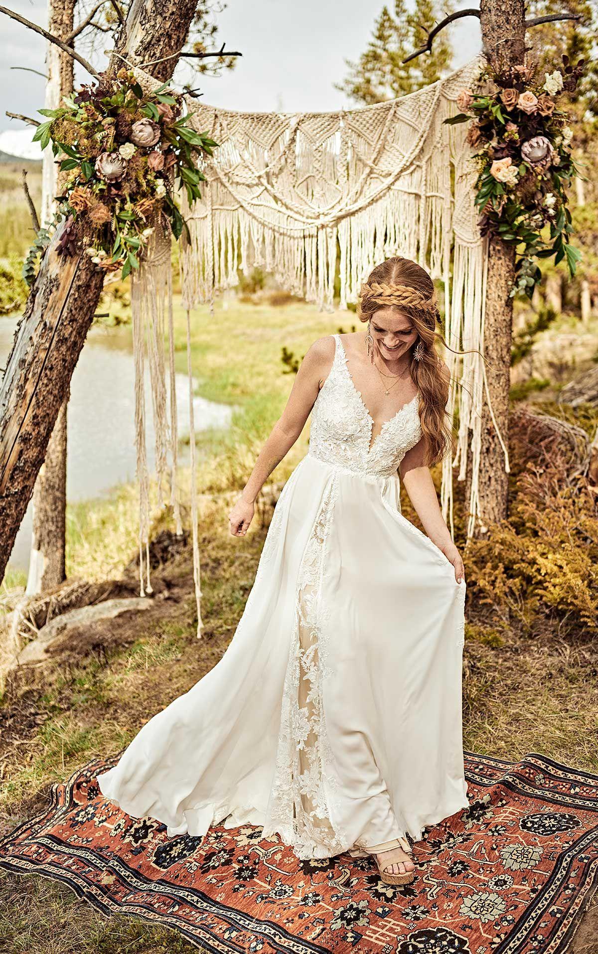 Effortless Bohemian ALine Wedding Dress All Who Wander