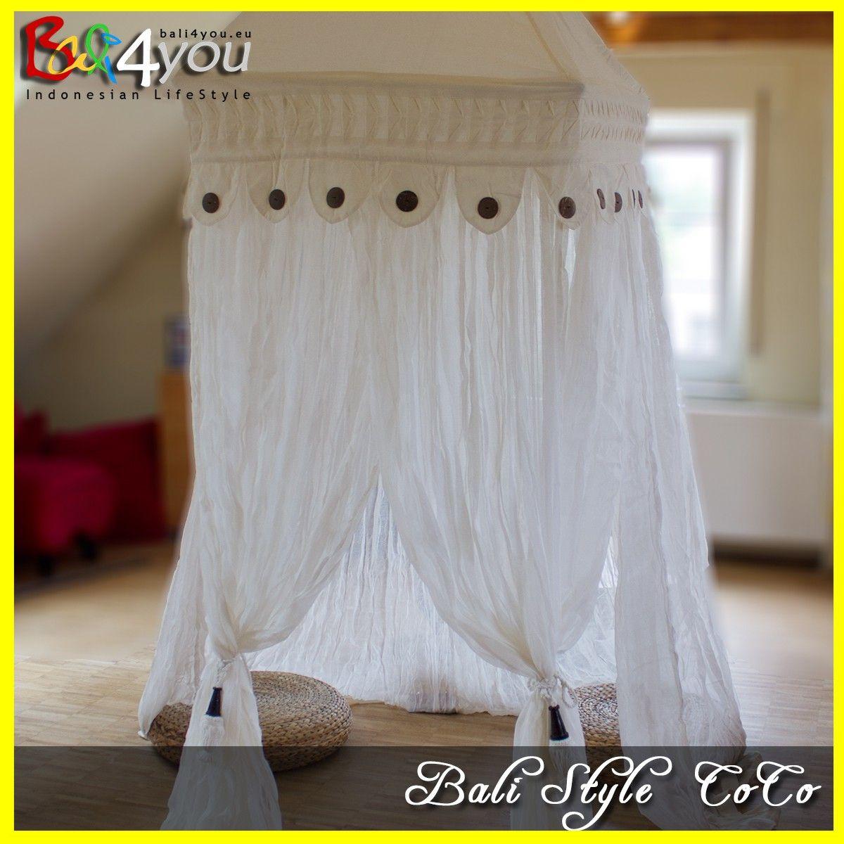 Baldachin Bali Style Mit Coco 1 Punkt SET 80x80x200, Baldachin,  Moskitonetz, Baldachin 1001