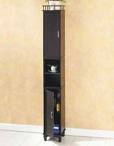 Tall Slim Storage Cupboard Cabinet Skinny Slimline Bathroom Linen Pantry Kitchen Slim Storage Cabinet Slim Bathroom Storage Cupboard Storage