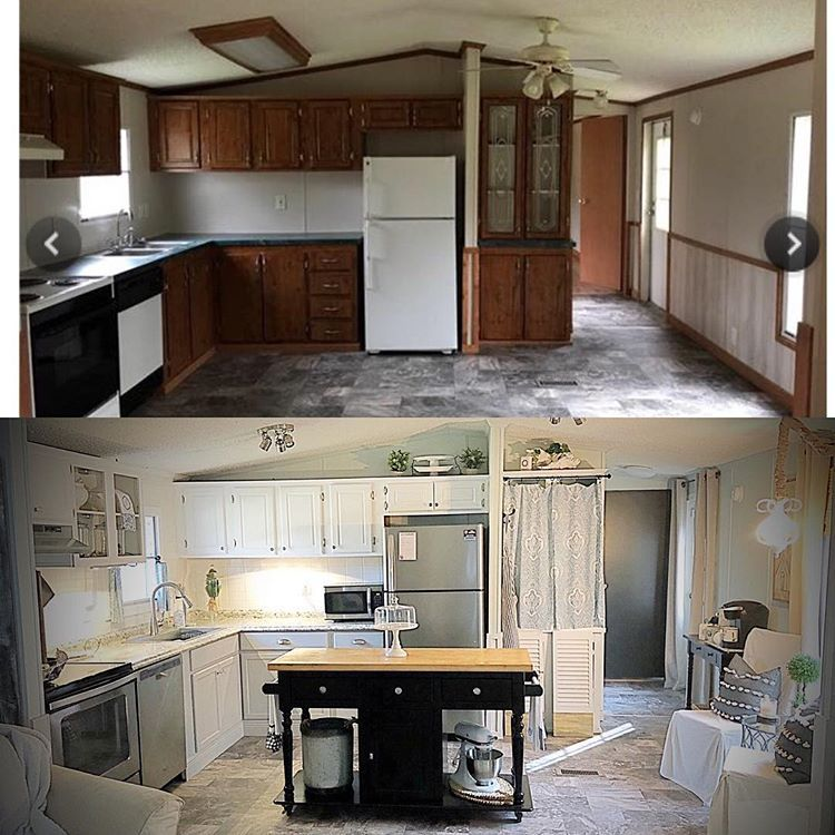 Felicia Thefrenchcottage2 Instagram Photos And Videos Manufactured Home Remodel Mobile Home Renovations Home Renovation