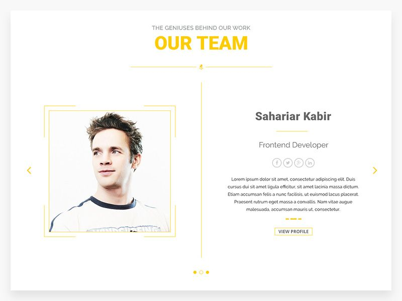 Our Team Page Template Team Page Corporate Web Design Page Template
