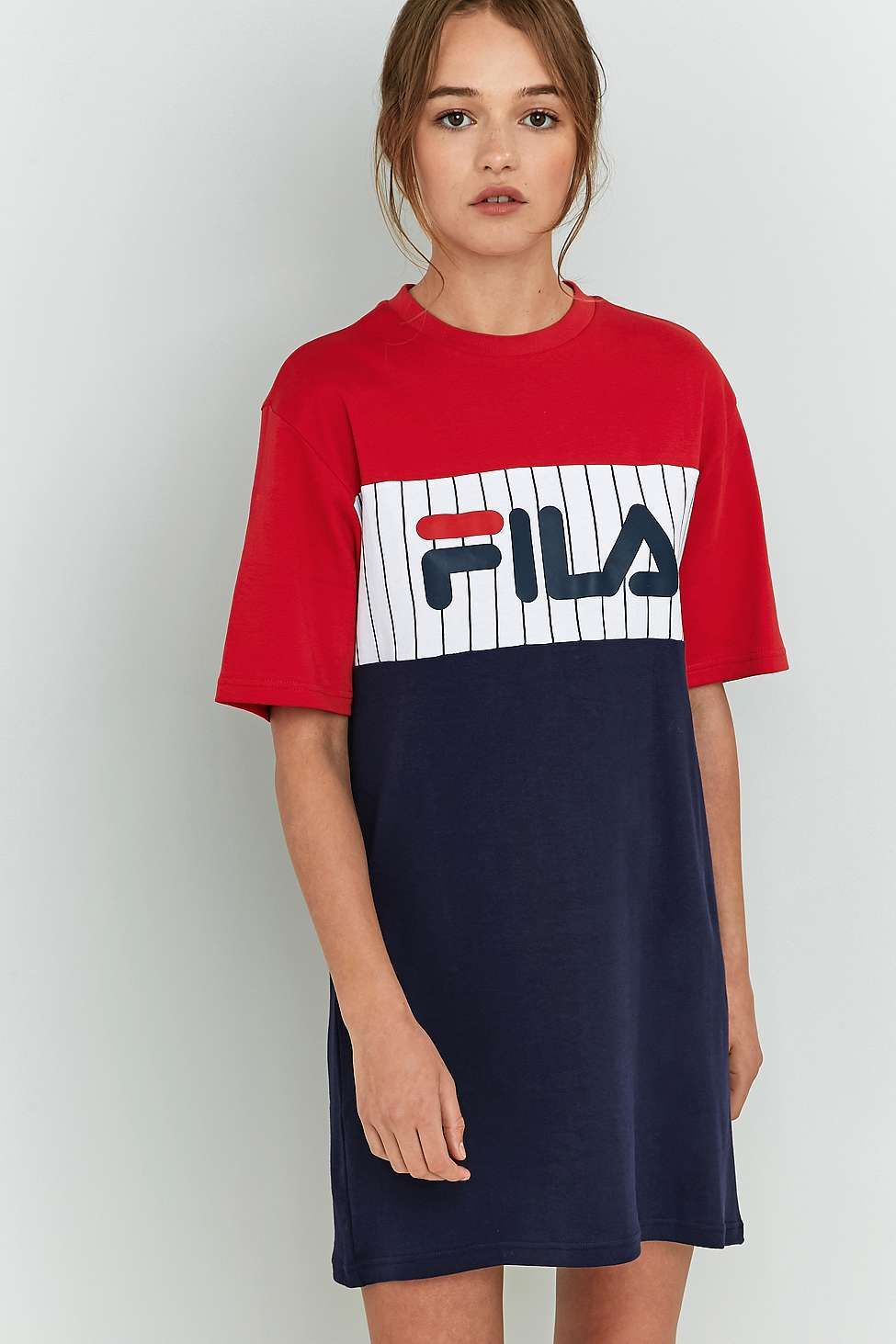 48477d91006c58 FILA Ruby T-Shirt Dress | Outfits | Robe tshirt, Robe fila, Robe sweat