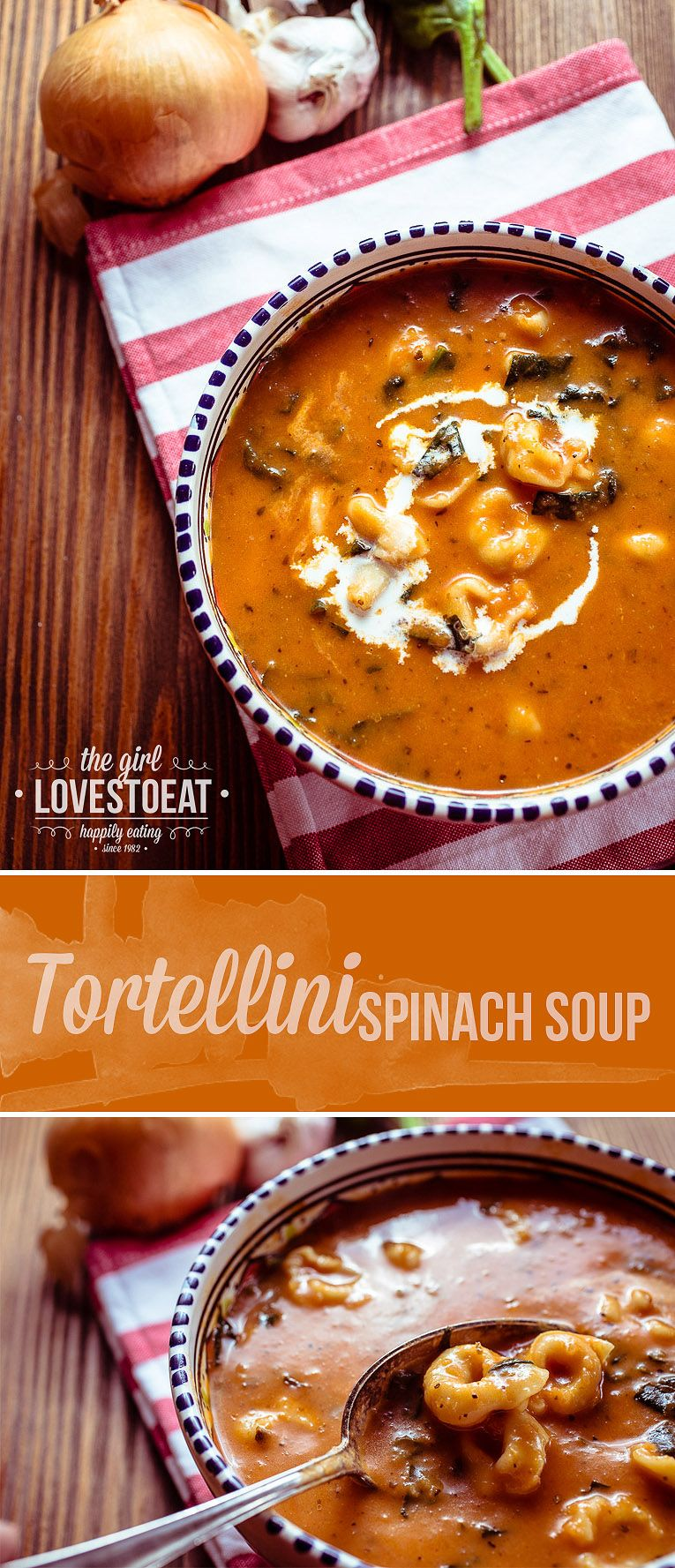 Tortellini Spinach Soup #spinachsoup