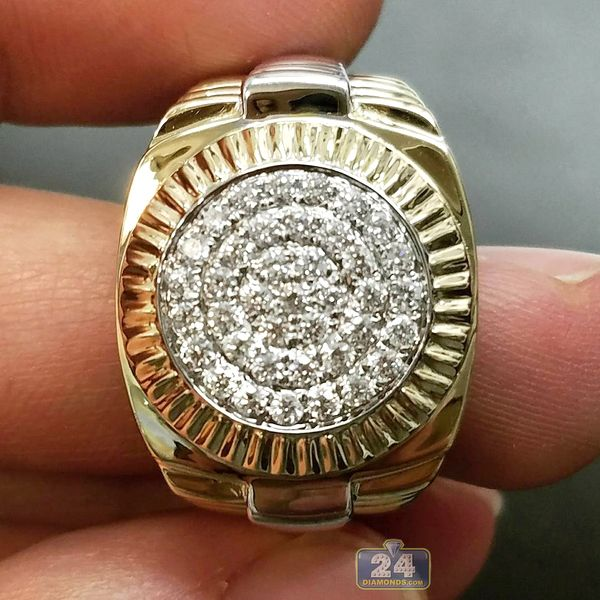 Two Tone Gold 0 63 ct Diamond Ring 2 Match Your Watch jewelry