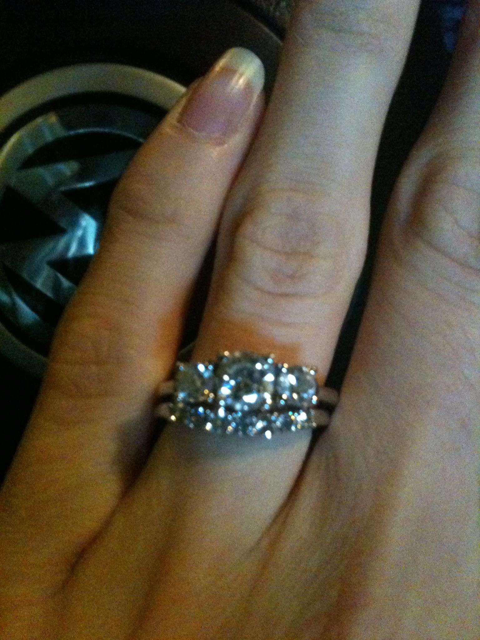 Wedding bands to go with 3 stone ring