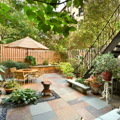 stone small backyard patio garden in the city by tobin parnes design enterprises new york historic brownstone renovation even compact urban abodes