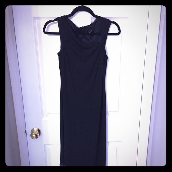 "#57  David Meister Dress Beautiful black lined sleeveless dress with back zipper. Dress is a size 2. Chest 30"" with give. David Meister Dresses Asymmetrical"