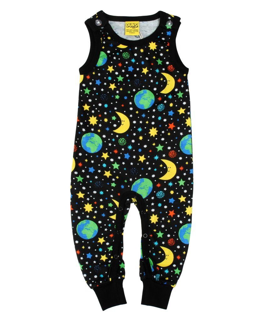 590936a27 DUNS Sweden black Mother Earth baby dungarees