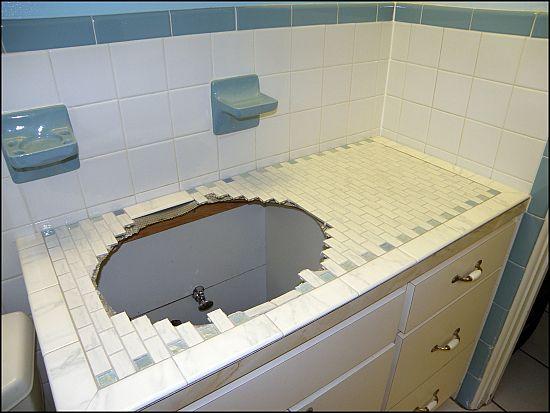 tiling over laminate countertops - bondera tile | gather | for