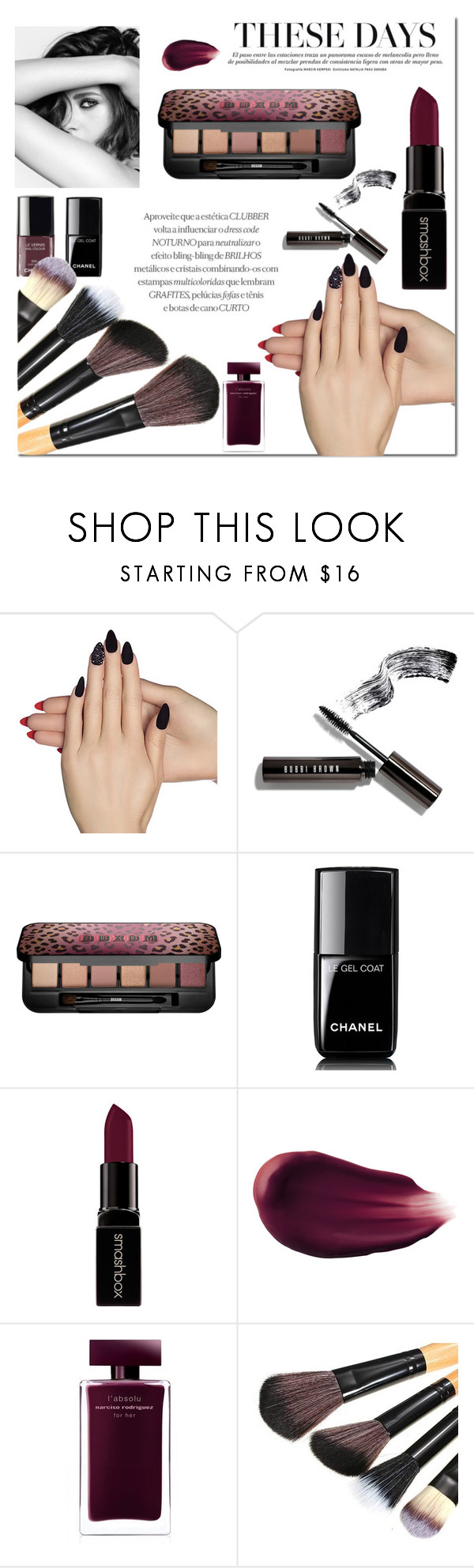 """..."" by rasaj ❤ liked on Polyvore featuring beauty, Static Nails, Chanel, Bobbi Brown Cosmetics, Buxom, Smashbox, Hourglass Cosmetics and Narciso Rodriguez"