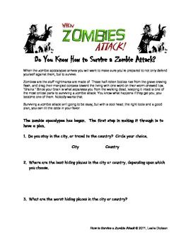 How to Survive a Zombie Attack | Zombie attack, Geography ...