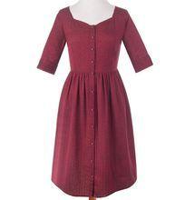 Fair Trade Chalet Dress Garnet