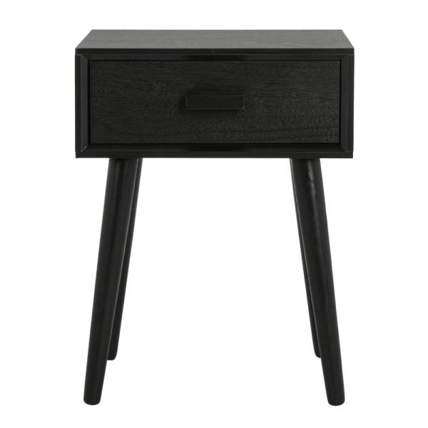 Safavieh Lyle Black Storage Side Table Acc5702d The Home Depot In 2021 Wood Accent Table Accent Table Black Side Table