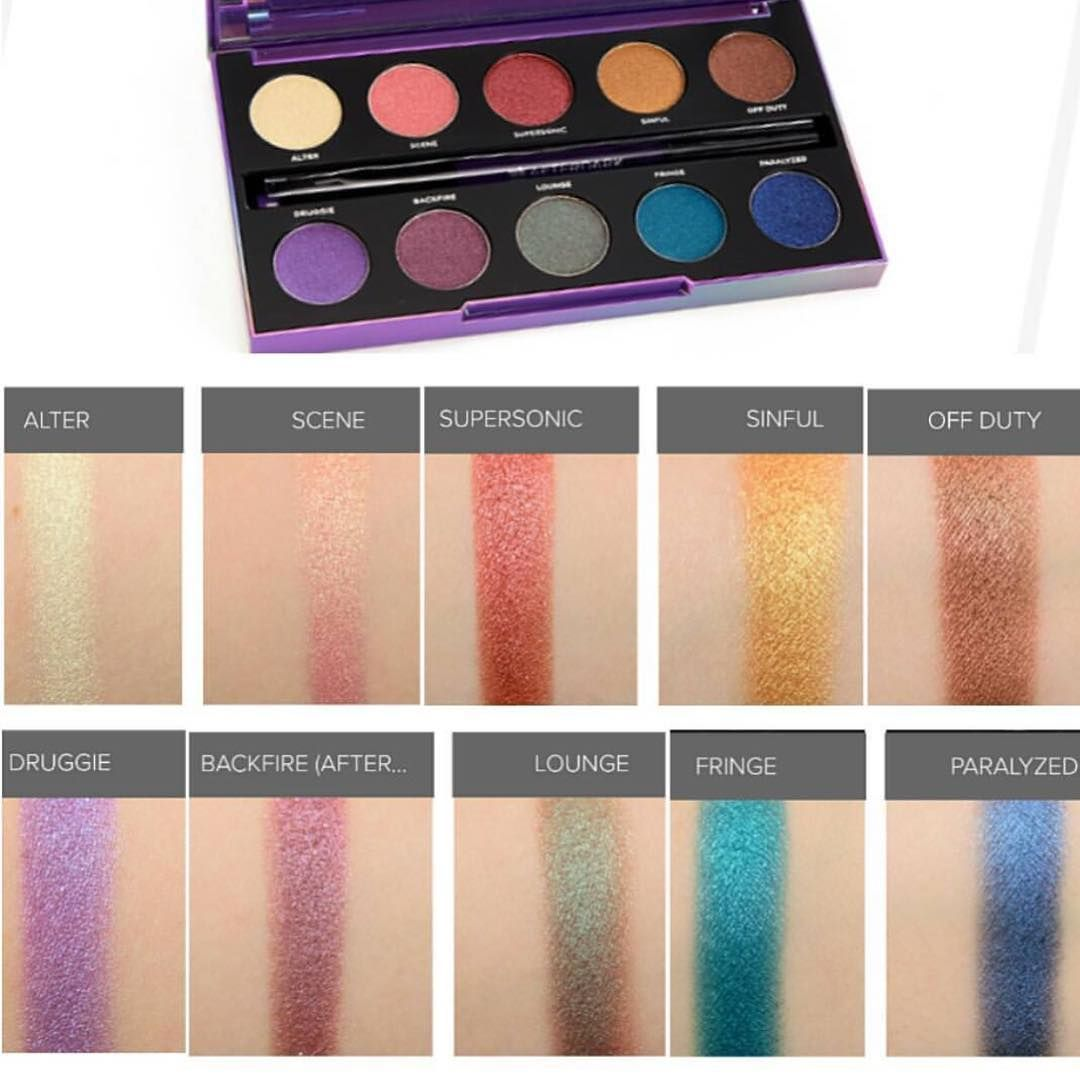 Image result for urban decay after dark palette swatches