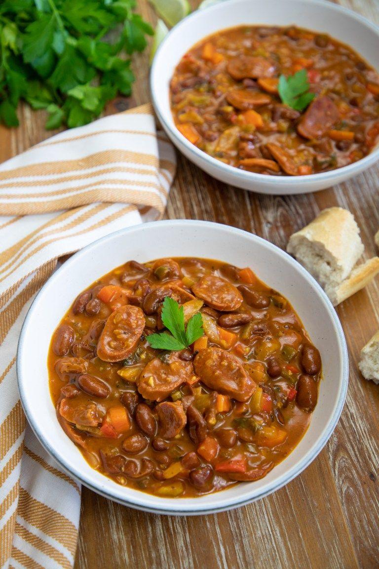 Chorizo And Bean Stew Smart Little Cookie Recipe Chorizo And Bean Stew Bean Stew Stew Recipes