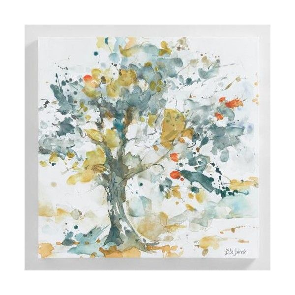 Cost Plus World Market Watercolor Trees By Ela Jarek 100