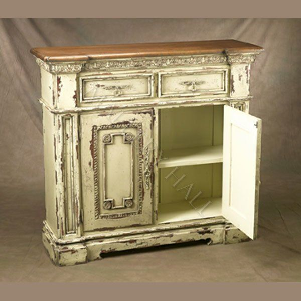 Antique White Buffet Cabinet