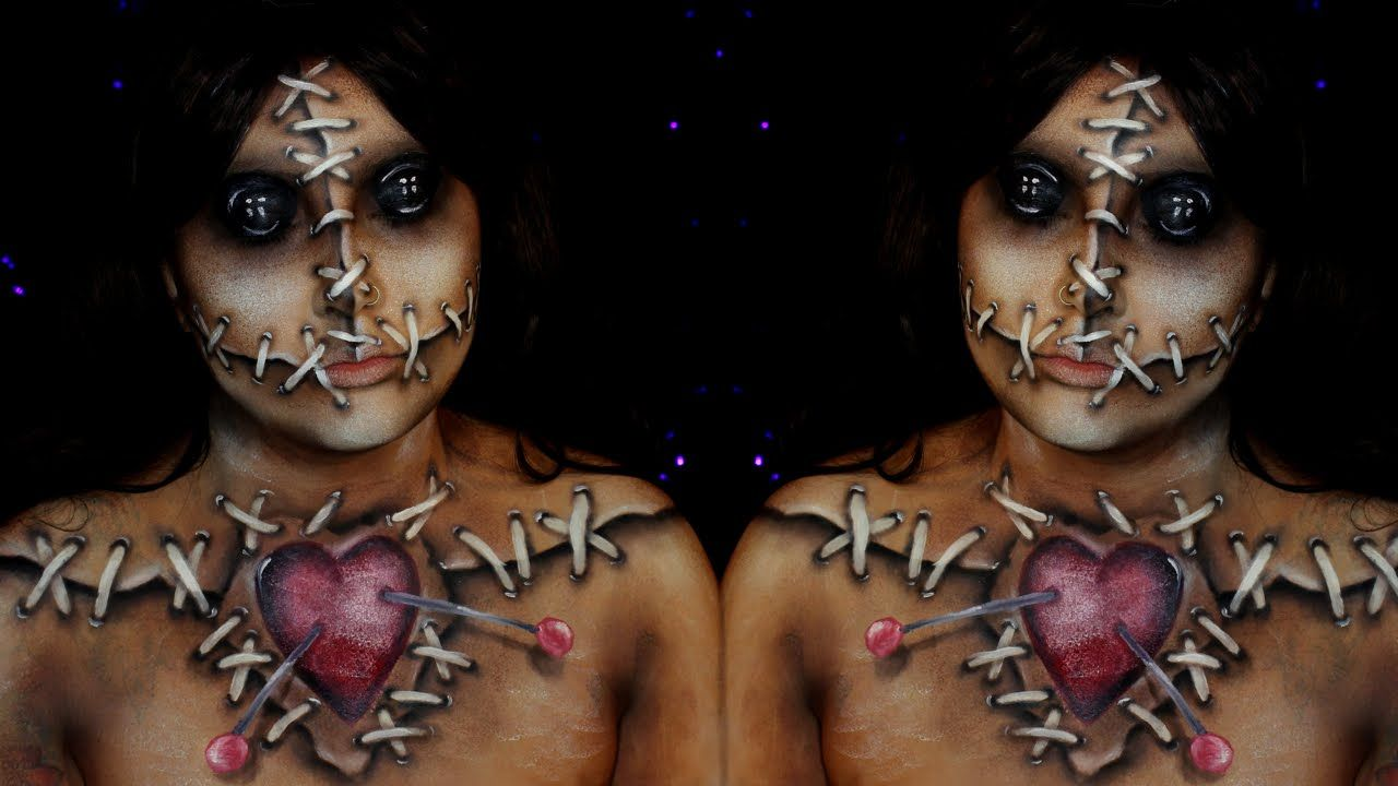 Voodoo Doll Halloween Makeup Tutorial | Jordan Hanz / Alex Faction ...