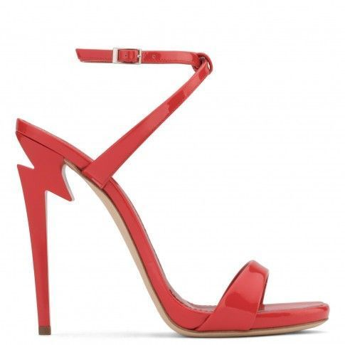 Giuseppe Zanotti Patent leather sandal with 'sculpted' heel G-HEEL Z5ic4RtU0u