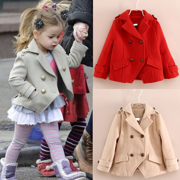 Wool Coats for Girls 2015 Fashion Spring Autumn Cardigan Girls ...