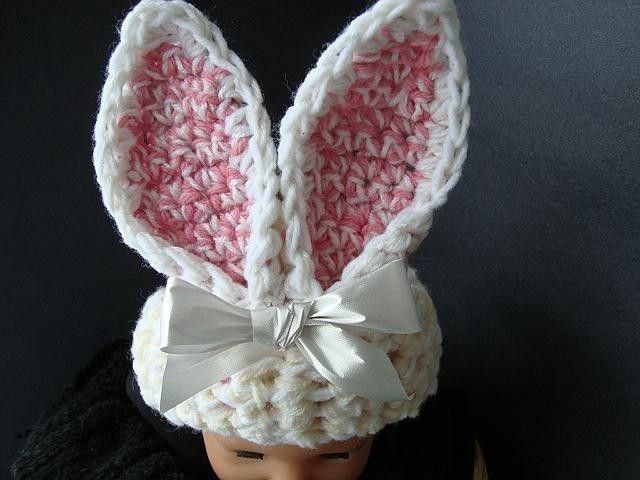 Baby Bunny Rabbit Ears Hat Pattern For Crochet Instant Download