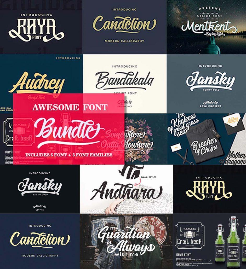 6 Awesome Fonts Set Cool fonts, Fonts, Font setting