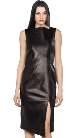Elegant Evening Leather Dress for Women
