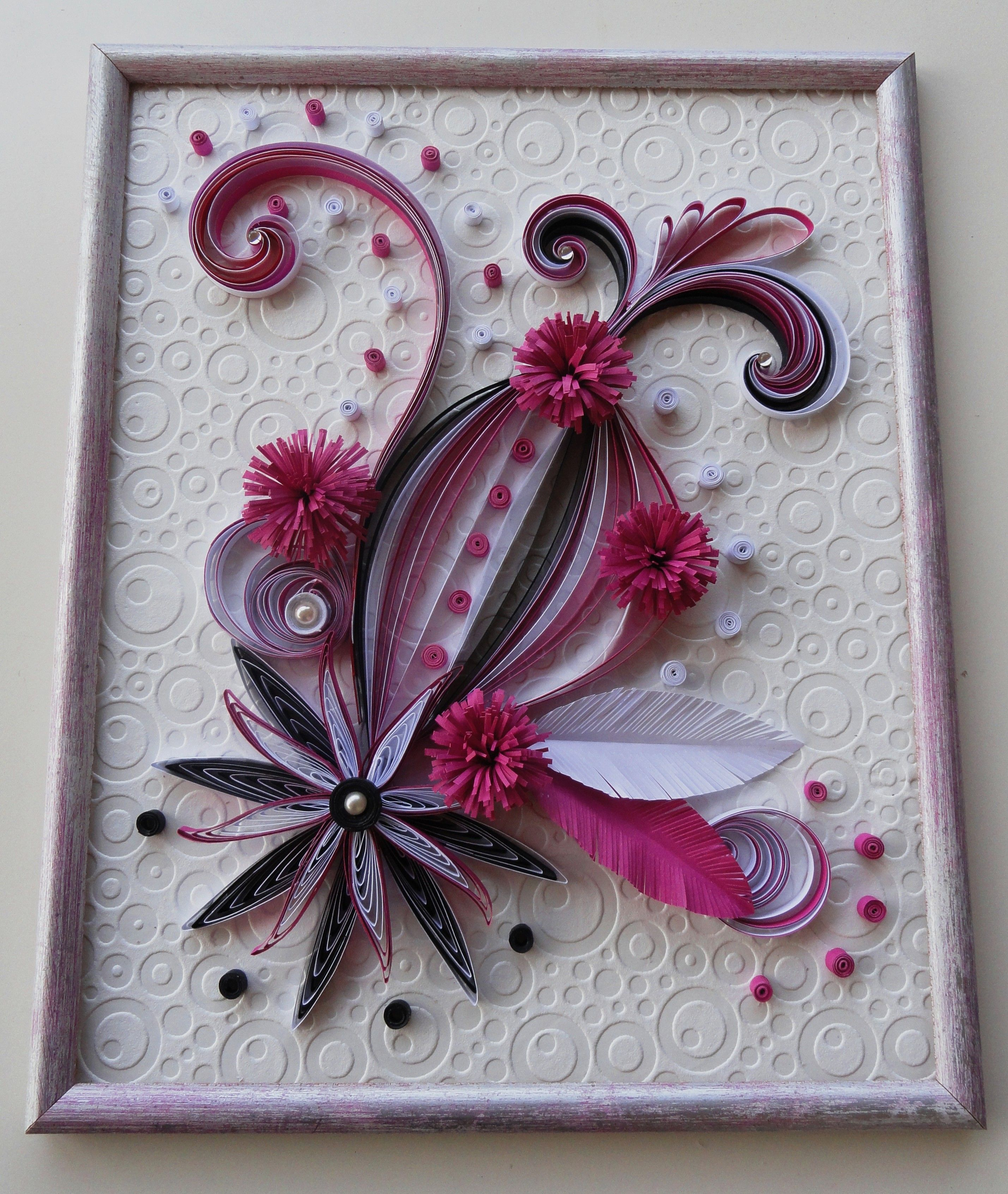 Rose noir et blanc inspirer du blog de Neli   Quilling floral ... for Quilling Butterfly Tutorial  585hul