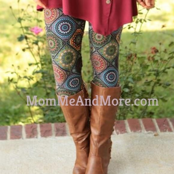 187656433d9dd4 Women's Fall Brown Quilt Print Leggings Best Quality Mommy and Me Sets –  MomMe and More