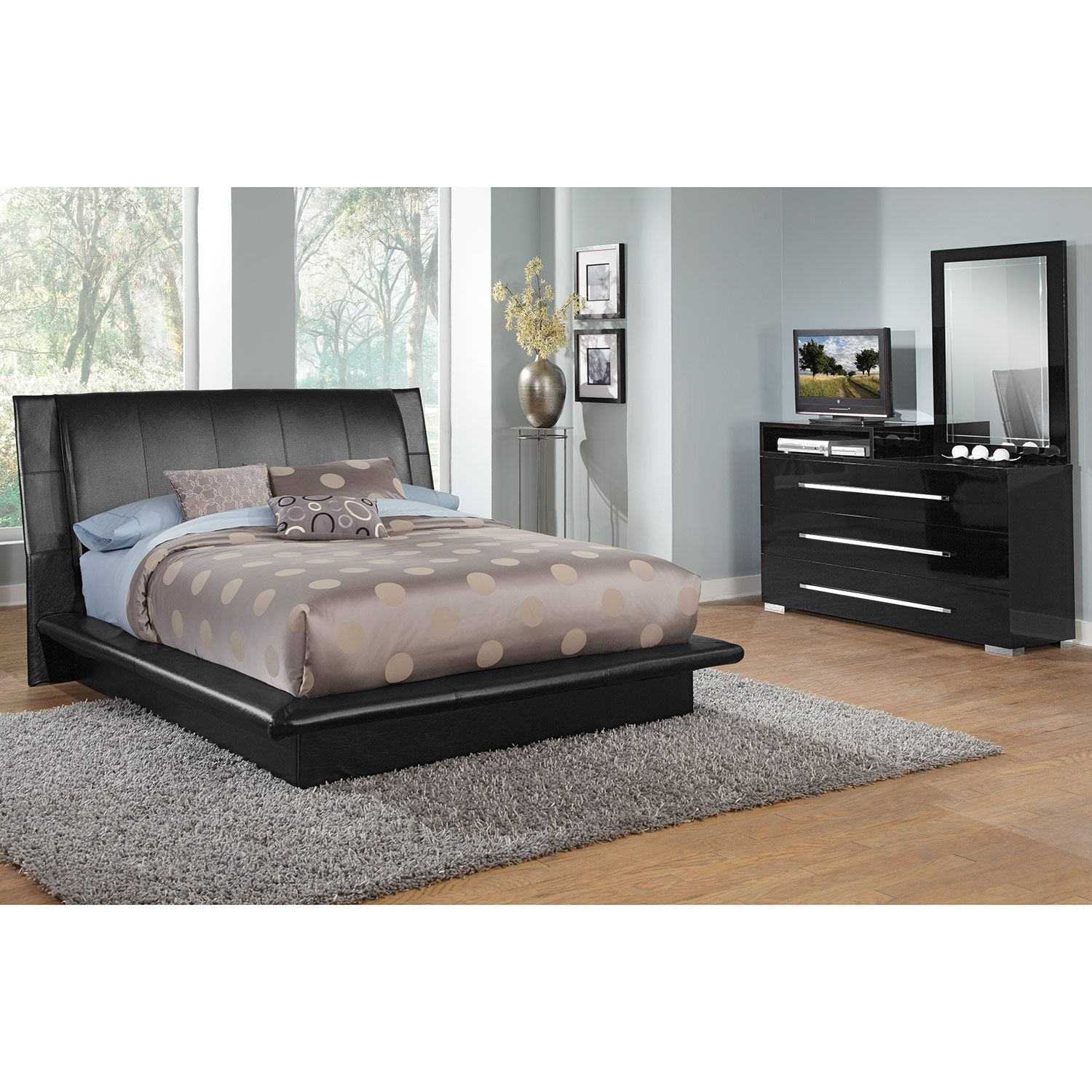 Gloss & Glamourour Dimora Black Collection Brings All The Class Amazing Value City Furniture Bedroom Sets Inspiration