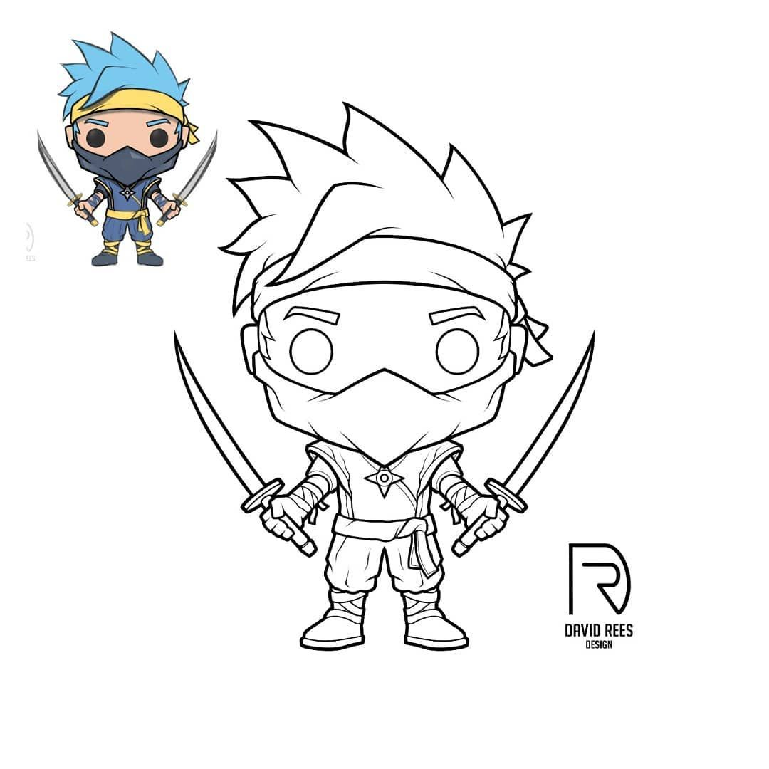 Sketched up a mock up of @ninja as a pop a couple of months ago and